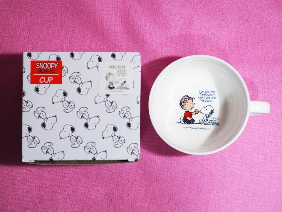 スヌーピー・ハッピースープカップ(上から)
