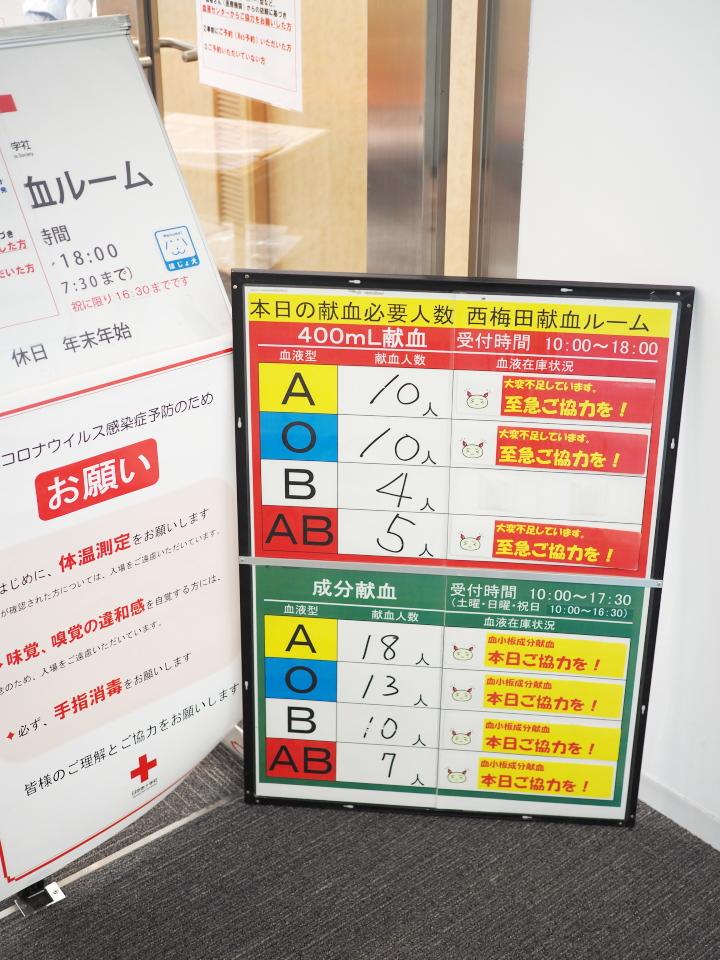 西梅田献血ルーム