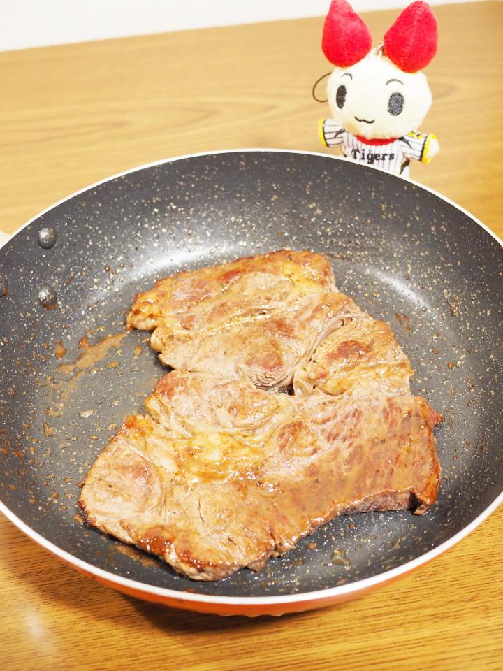 献血の前日に食べたステーキ